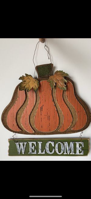 Pumpkin Welcome Sign for Sale in Nashville, TN
