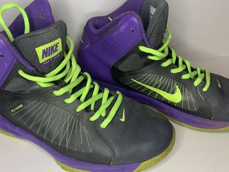 Nike Fly wire High Hi Tops Purple And Neon Yellow 10.5 for Sale in Chandler,  AZ