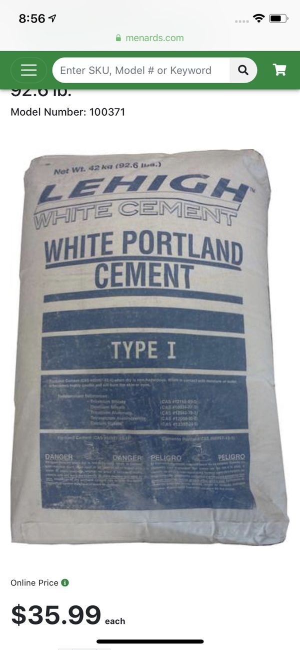 Cement and Pool Plaster