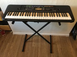 Yamaha portable keyboard with stand. for Sale in Pleasanton, CA