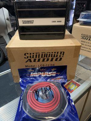 Sundown audio 12 in bass package for Sale in Fresno, CA
