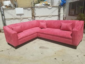 NEW 7X9FT PINK MICROFIBER SECTIONAL COUCHES for Sale in Yorba Linda, CA