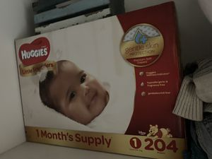 Huggies size 1 for Sale in Paisley, FL
