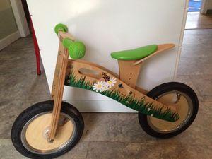 Wooden balance bike girls for Sale in Portland, OR