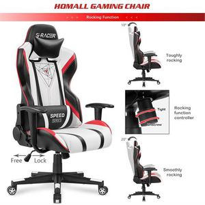 Homall Gaming Racing Office High Back PU Leather Computer Desk Executive for Sale in Pineville, NC