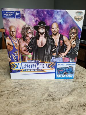 WWE Road to Wrestlemania Board Game Action Packed Boardgame Wrestle Legends NEW for Sale in Cypress, CA