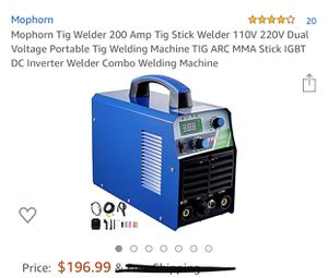 Mophorn Tig Welder 200 AMP for Sale in Rancho Cucamonga, CA