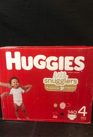 Huggies Little Snugglers. Baby Diapers Size 4 140 ct. One month Supply. for Sale in Tustin, CA