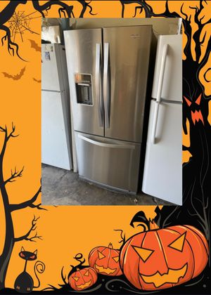 """WHIRLPOOL STAINLESS 30"""" FRENCH DOOR FRIDGE for Sale in Santa Ana, CA"""