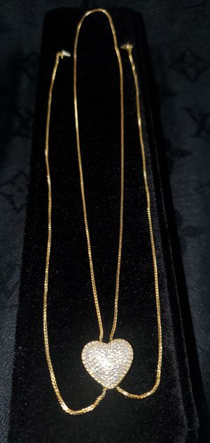Holiday Sale! Sterling Silver Necklace! (Gold Plated) for Sale in De Pere, WI