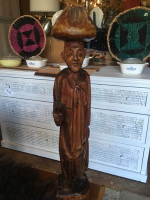 Vintage antique asian carved wood statue sculpture for Sale in San Diego, CA