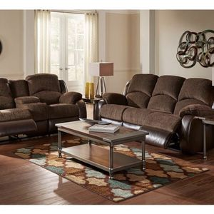 Brown Reclining Sofa & Loveseat for Sale in Dayton, OR