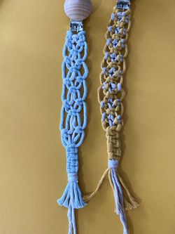Macrame Pacifier Clip for Sale in Pompano Beach,  FL