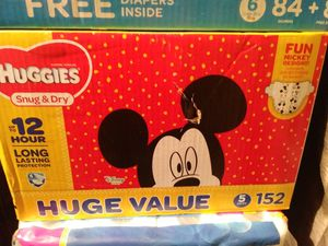 Huggies size 6 152 count for Sale in Pixley, CA