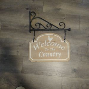 Welcome To The Country Sign From Hobby Lobby 16 Wide 21 High for Sale in Bonney Lake, WA