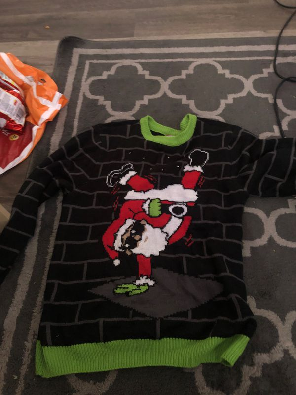 Ugly Christmas sweater with break dancing Santa size/medium