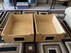 2 wooden under-the-bed storage bins for Sale in Aspen Hill, MD