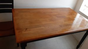 Cherrywood table and 2 chairs and a bench for Sale in Baltimore, MD