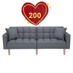 Brand New ! FUTON SOFA BED SLEEPER DARK GREY LINEN FABRIC for Sale in Hacienda Heights, CA