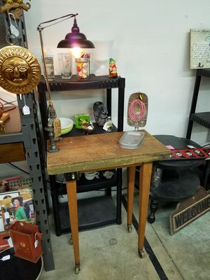 Rolling work table with new built in lamp for Sale in Oklahoma City, OK