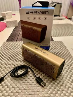 Brand new in box $20 each Braven LUX gold edition bluetooth wireless speakers power bank speakerphone for Sale in Whittier,  CA