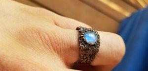 Moonstone electroformed ring for Sale in La Center, WA