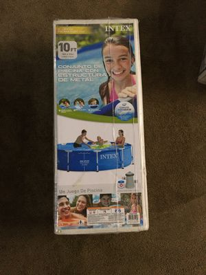 Brand New Intex 10ft Metal Frame Swimming Pool Set for Sale in Pittsburgh, PA
