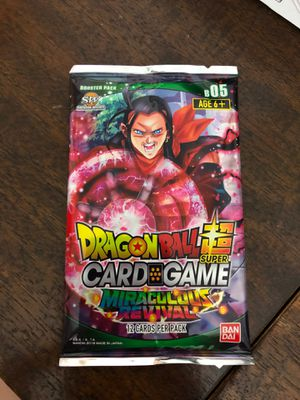 Sealed 12 card dragonball Z Miraculous Revival for Sale in Phoenix, AZ