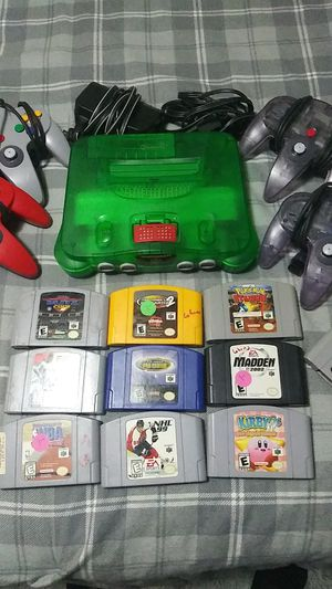 N64 with 4 controllers and wires. Games included. $50 take all for Sale in Chicago, IL