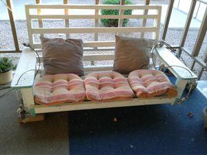 Flatbottom Wooden Porch Swing for Sale in Phoenix, AZ