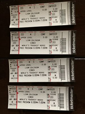 TICKETS for Sale in East Bend, NC