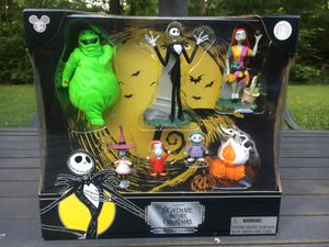 The Nightmare Before Christmas Disney Collectible Figures New In Box 7 Piece Set Disney for Sale in Woodbourne-Hyde Park, OH