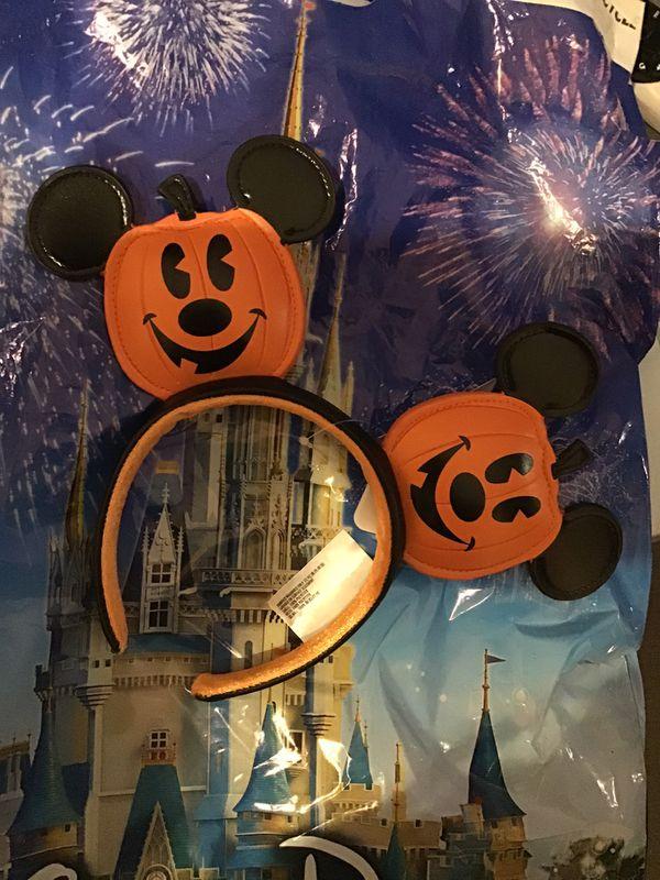 Disney Pumpkin Mickey Ear Headband