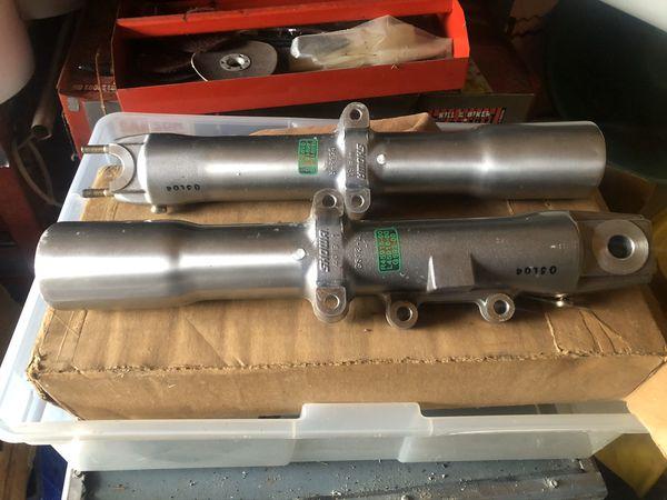Harley Davidson lower fork tube sliders