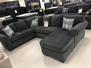 Brand grey fabric sectional sofa for Sale in Dallas, TX