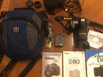 Nikon D80 With Nikon Telephoto Lense for Sale in Canby,  OR