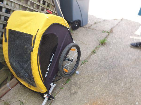 Kids bike trailer w/ bike
