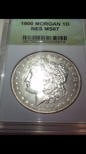 INCREDIBLE MS67 1900 Morgan Silver Dollar- Rare Flawless Fields & Full Feathers- $1,000 Book Value- NES Professionally Graded & Certified! for Sale in Reston, VA
