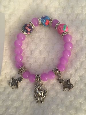 Unicorn charm bracelets- choice of color- new for Sale in East Hartford, CT