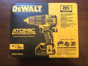DeWalt ATOMIC 20-Volt MAX Lithium-Ion Cordless Brushless 1/2 in. Compact Hammer Drill Kit (Brand New) for Sale in Oviedo, FL