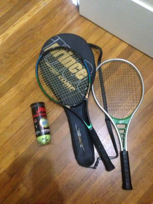 2 tennis rackets + cover + balls for Sale in San Diego, CA
