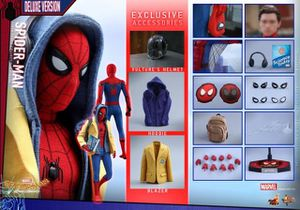 Hot Toys Deluxe Homecoming Spider-Man 1/6 scale figure for Sale in Long Beach, CA