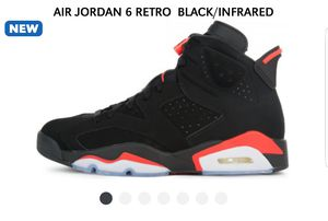 Jordan 6 infrared sizes 7 through 9 for Sale in Silver Spring, MD
