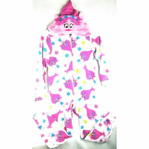 DreamWorks Trolls Poppy Girls Blanket Sleeper Zip Up Pajamas Size L Large Pink for Sale in Avondale, AZ