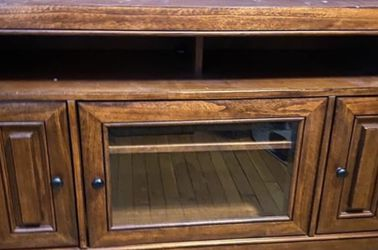 Solid Wood Media Cabinet TV Stand for Sale in Sterling Heights,  MI