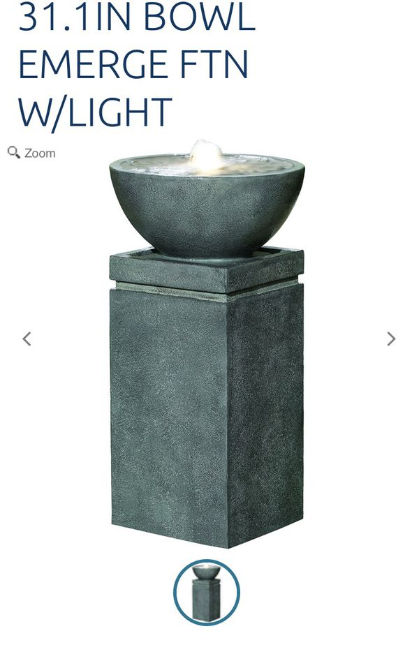 Ceramic water fountain with light