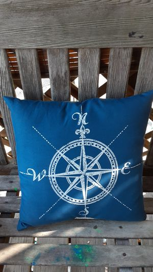 Out door compass pillow for Sale in Chicago, IL