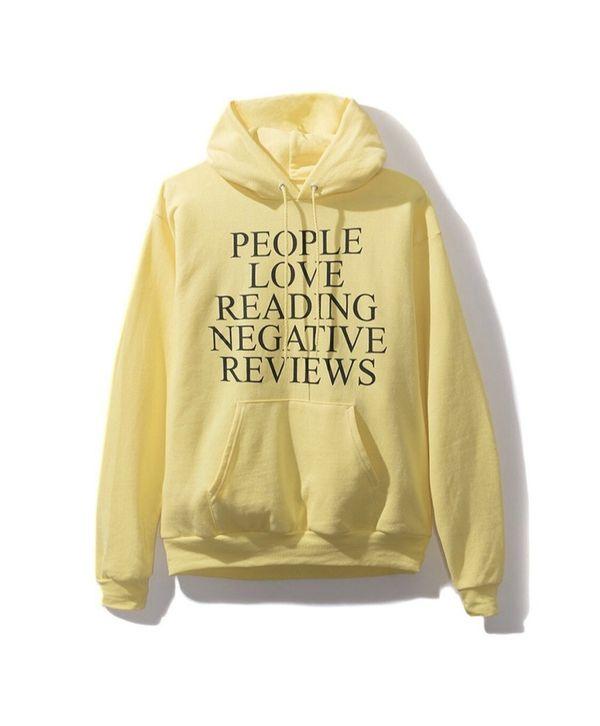 Anti Social Social Club Yelp Yellow Hoodie sweater large