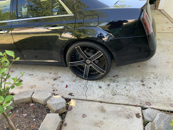 24 inch rims for sale 750 obo 3 good tires 1 needs replacing