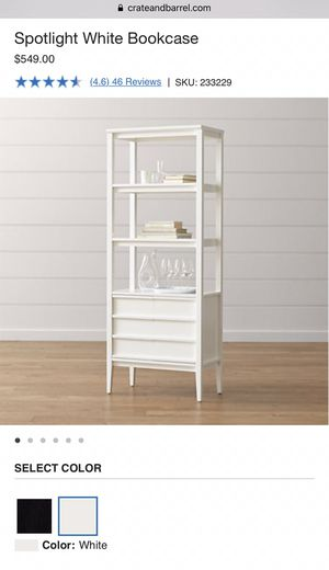 Crate and Barrel Spotlight White Bookcase for Sale in Mill Creek, WA